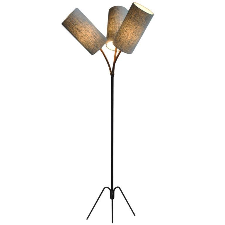 Unique Danish Midcentury Tripod Floor Lamp For Sale