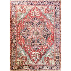 Charming Antique Persian Heriz Carpet