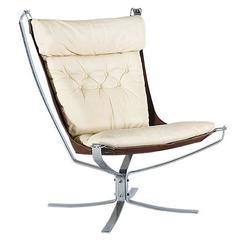 "Sigurd Ressel Chrome ""Falcon"" Chair for Vatne Møbler"