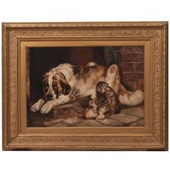 19th Century Painting, 'Animal Scene' by William Hunt