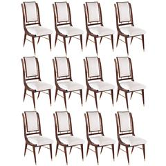 Set of 12 Italian Modern Dining Chairs