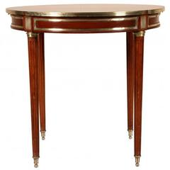 Very Fine Moderne Style Mahogany Side Table