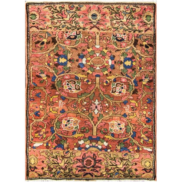 Antique Heriz Sampler Tree And Life Rug For Sale At 1stdibs