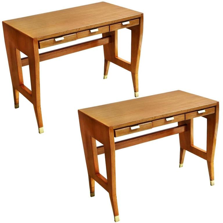 Gio Ponti Pair of Desks or Tables For Sale