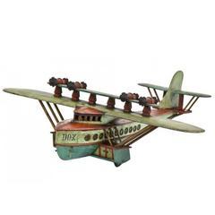 1930s Enameled Wood Folk Art Dornier Do-X Flying Boat Model