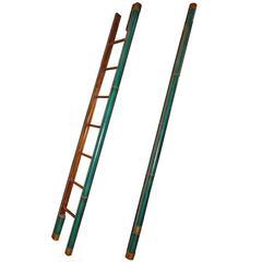 C. Mariani Custom Mahogany Folding Library Ladder in the English Taste