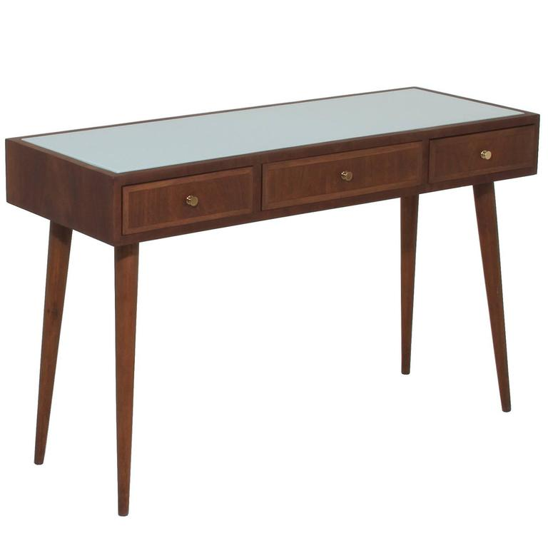 Giuseppe scapinelli three drawer desk or console table for White and glass console table