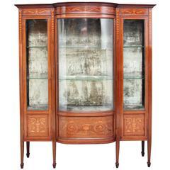 Early 20th Century Edwardian Mahogany Inlaid Cabinet