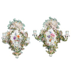 Meissen Wall Sconces