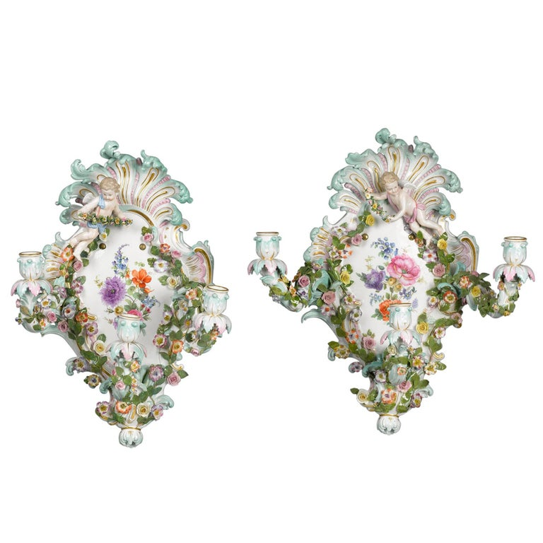 Meissen Wall Sconces For Sale