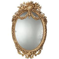 Napoleon III Giltwood Mirror