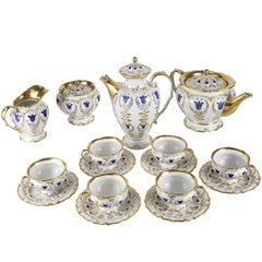 19th Century Porcelain Tea & Coffee Service for Six by K.P.M