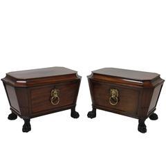 Pair of Large Country House Wine Coolers in the Manner of Thomas Hope