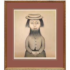 Woman with a Beard Together with Preliminary Sketch for Woman with a Beard