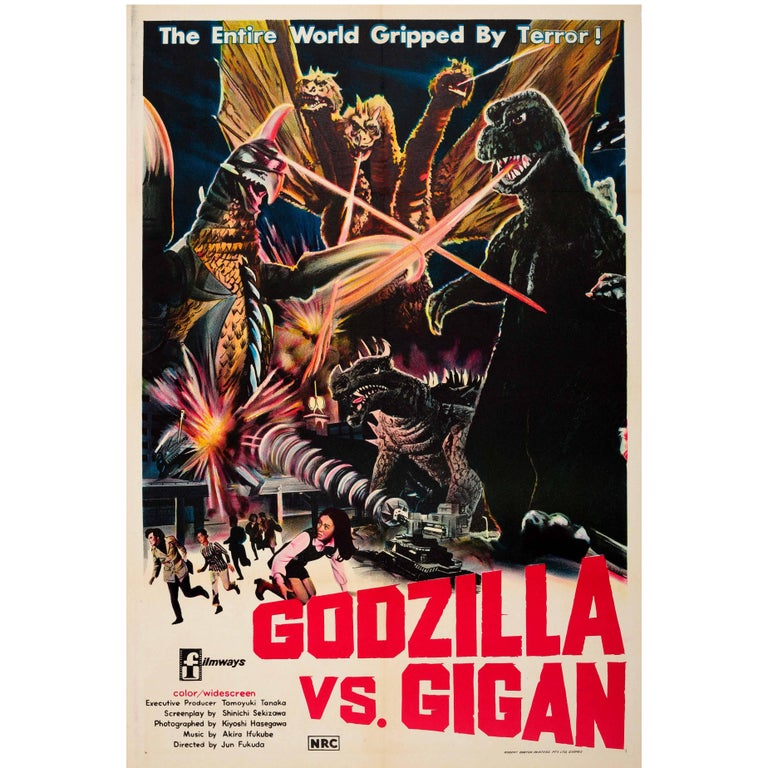 Original Vintage Movie Poster for the Australian Release of Godzilla Vs. Gigan For Sale