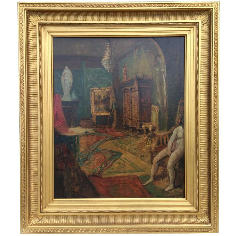 """Artist Studio - Paris"" by Louis Aston Knight For Sale"