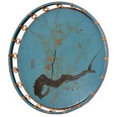 Antique Chinese Decorative Tray, Wall Hanging, Frank Lloyd Era