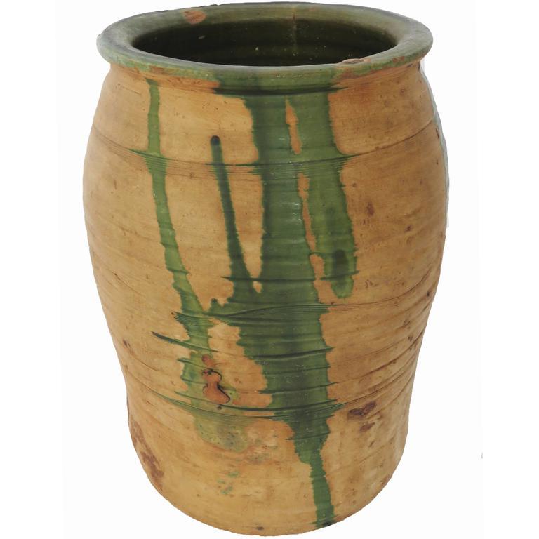 19th Century Glazed Terracotta Pot