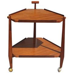 Mid-Century Modern Hexagonal Serving Trolley
