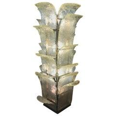 Carlo Nason Floor Lamp for Mazzega in Opalescent Glass, circa 1960