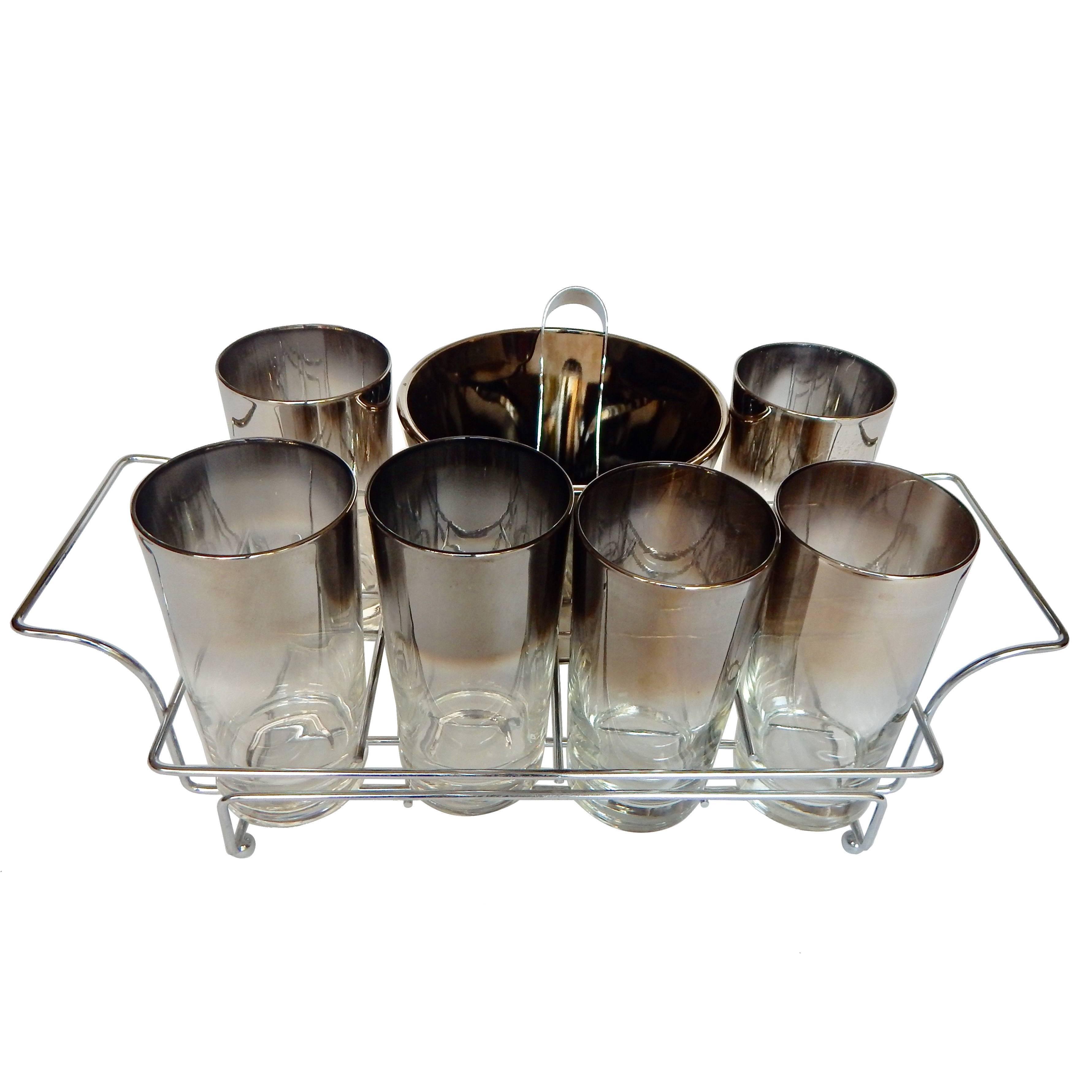 Dorothy Thorpe 1960s Midcentury Glassware or Barware  Set