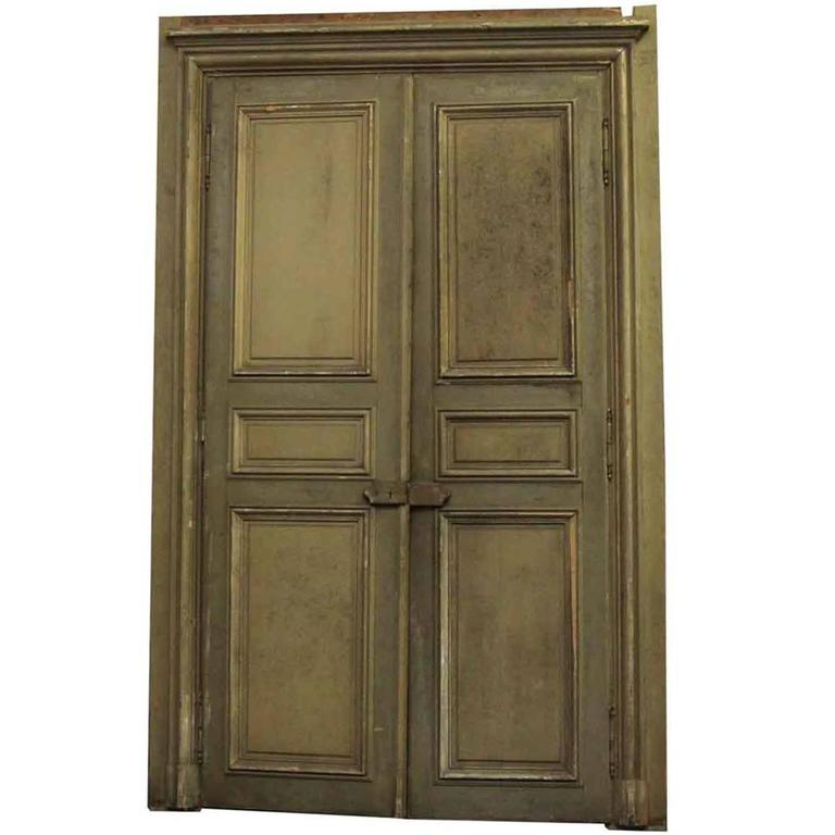 1870s french provincial oversized doors with door janbs for Oversized exterior doors for sale