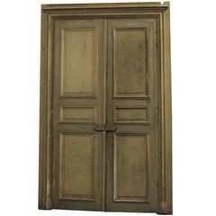 Great 1870s French Provincial Oversized Doors With Door Janbs