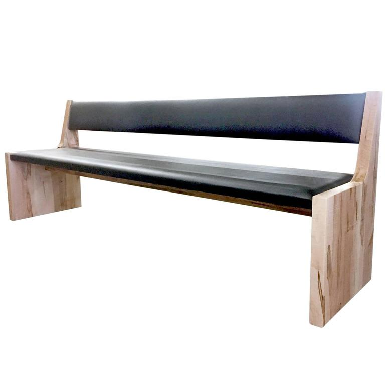 Sentient Upholstered Banquette Bench in Maple Hardwood