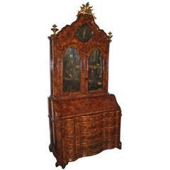 18th Century Venetian Burled Olivewood Secretaire