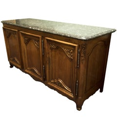 French Regency Marble Top Sideboard