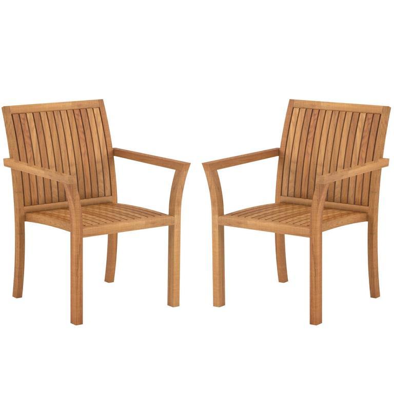 teak wood puriz outdoor dining armchairs by royal botania belgium