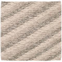 Contemporary Italian 'Intreccio Diagonale' Carpet, Brown