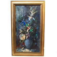 Ingfried Henze Paul Morro Oil Canvas Painting Still Life Impressionist Style