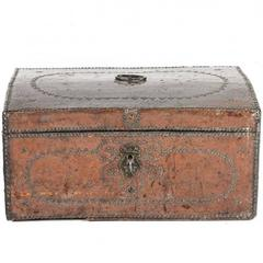 Antique Leather Box, circa 1750