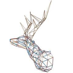 Color Deer Iron Sculpture