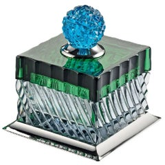 Charme Box in Aquamarine and Green