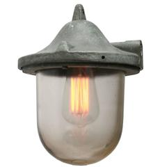 Grey Cast Aluminum Vintage Industrial Hanging Lamp Clear Glass ( (10x)