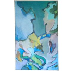 "William Littlefield Abstract Painting, ""The Still Center"""