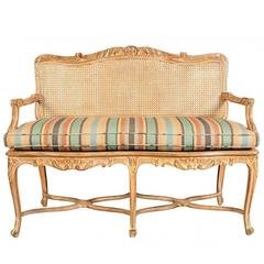 Country French Caned Settee