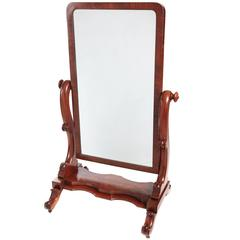Antique and vintage floor mirrors and full length mirrors for Large floor length mirrors for sale