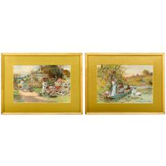 Pair of Watercolors by William Stephen Coleman