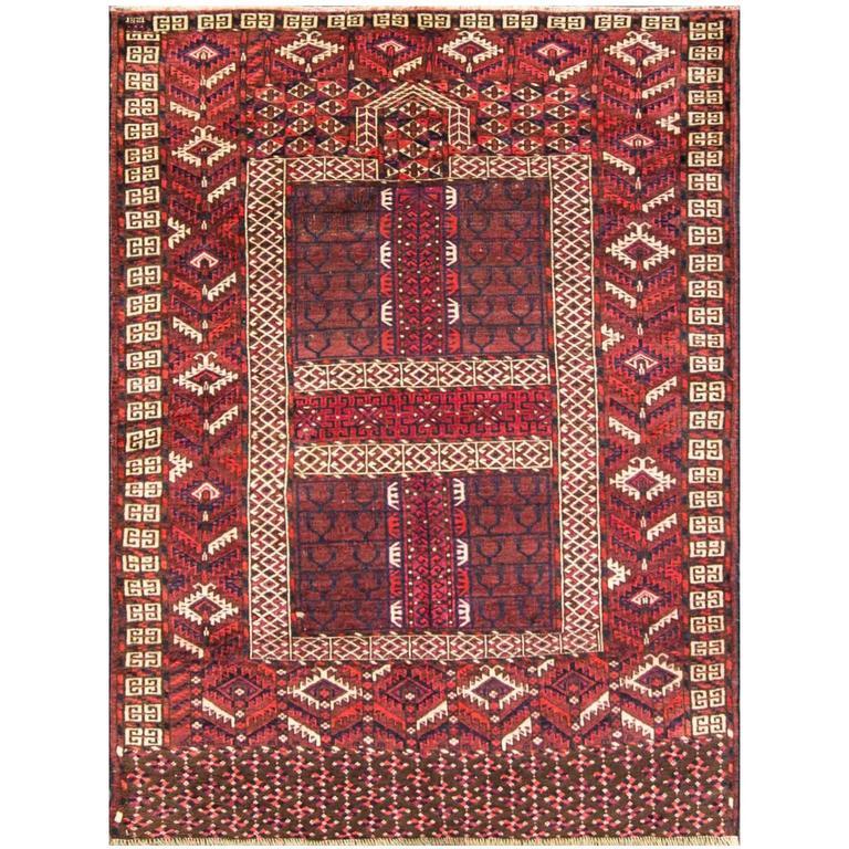 Antique Turkoman Rug: Antique Turkoman Ersari Carpet At 1stdibs