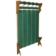 Mid-Century Modern Italian Coat Rack Ico Parisi Style, Beech, Fabric Plasticized