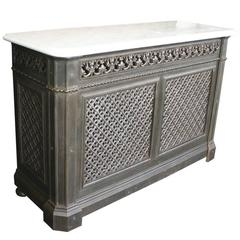 Superb 19th century french baroque style gilt wood - Cast iron radiator covers ...