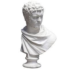 Stunning Plaster Bust of the Roman Emperor Caracalla