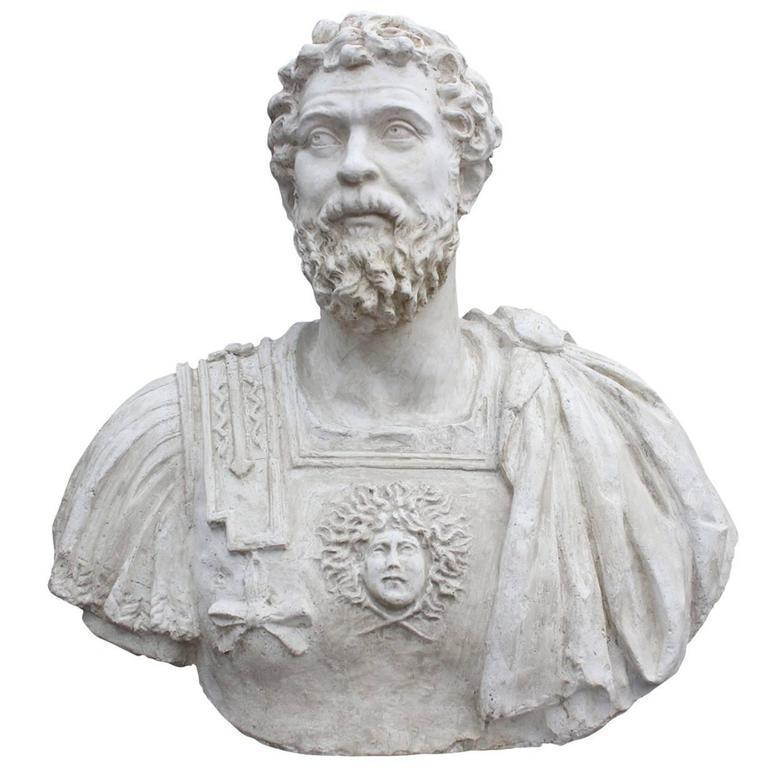 Marco Aurelio Plaster Sculpture For Sale