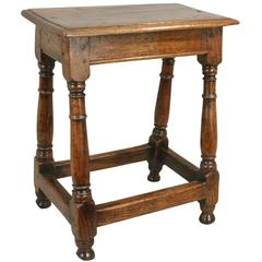 Antique Early Oak Joint Stool
