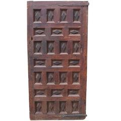 Late 18th Century Continental Pine and Walnut Feature/Character Door
