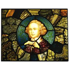 19th Century English Hand-Painted Stained Glass