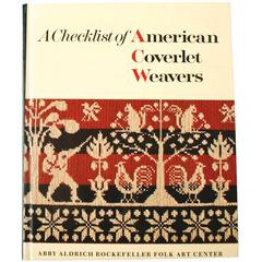 """A Checklist of American Coverlet Weavers"" Book by John Heisey"